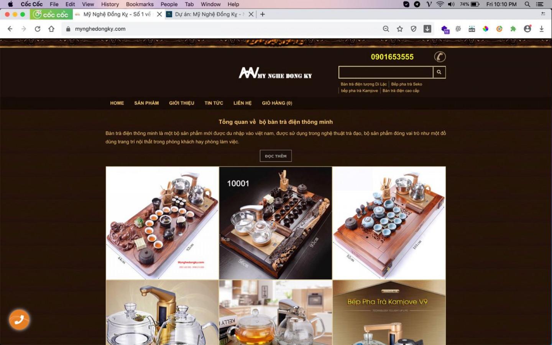 Web Mỹ Nghệ Đồng Kỵ do bên Nga Linh xây dựng và thiết kế
